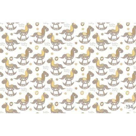 Tkanina bawełniana koniki brązowe