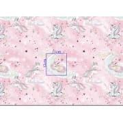 Tkanina bawełniana jednorożec różowy