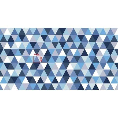 Tkanina bawełniana romby niebieskie