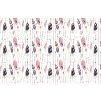 Tkanina bawełniana pióra fioletowo-czarne