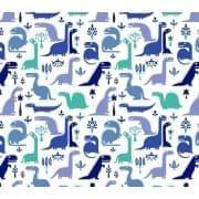 Tkanina bawełniana dinozaury