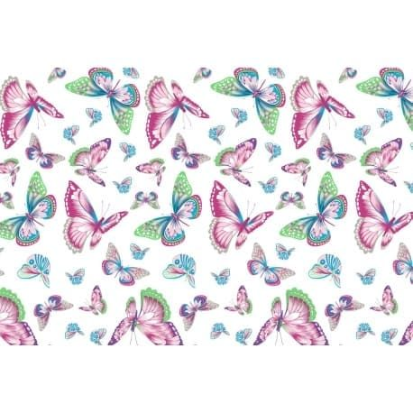 Tkanina bawełniana motyle