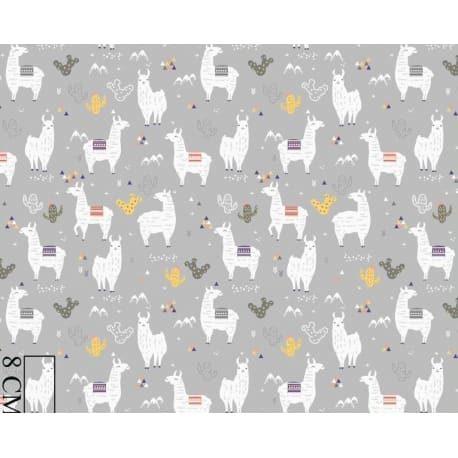 Tkanina bawełniana alpaca szara