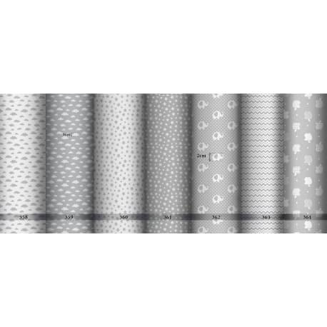 Tkanina bawełniana druki drobne szare