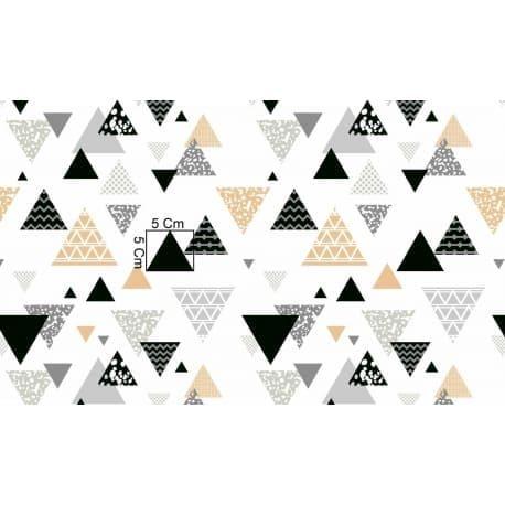 Tkanina bawełniana trójkąty