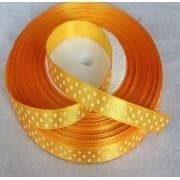 Taśma rypsowa 10 mm pomarańczowa 1mb