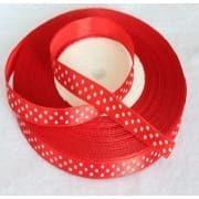 Taśma rypsowa 10 mm czerwona 1mb