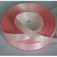 Taśma rypsowa 10 mm różowa 1mb