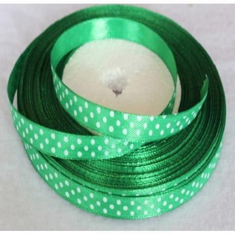 Taśma rypsowa 10 mm zielona 1mb
