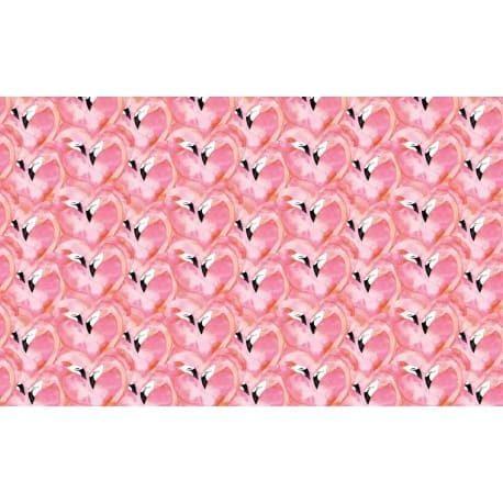 Tkanina bawełniana flamingi różowe