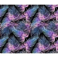 Tkanina bawełniana liście palmy ciemne