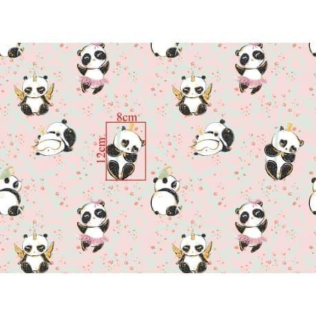 Tkanina bawełniana pandy