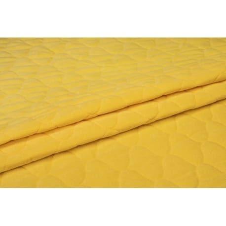 Velvet pikowany żółty