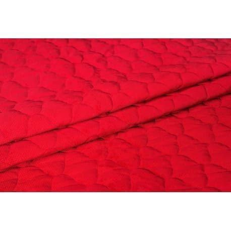 Velvet pikowany czerwony