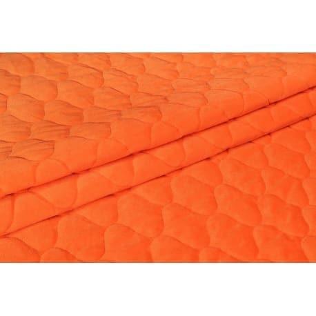 Velvet pikowany pomarańczowy