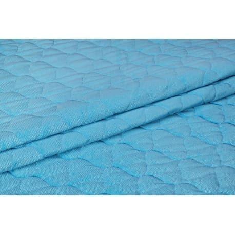 Velvet pikowany jasno - niebieski