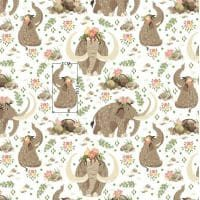 Tkanina bawełniana mamuty