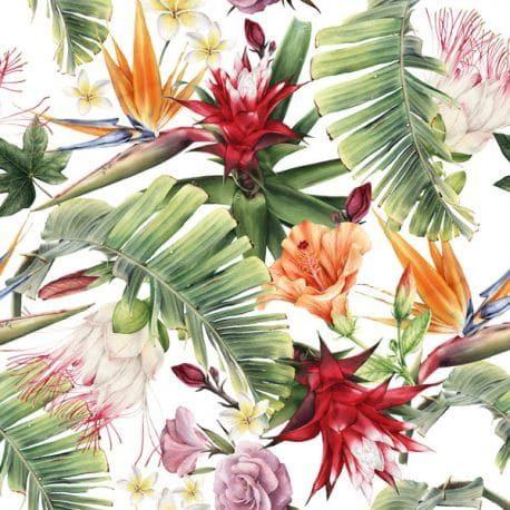 Druk velvet kwiaty - liście