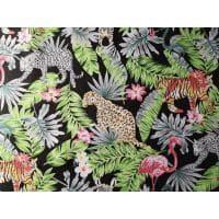 Tkanina bawełniana dżungla szara