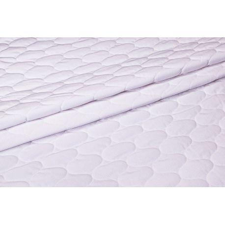Velvet pikowany biały