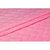 Velvet pikowany różowy - 1