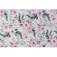 Tkanina bawełniana dzikie kwiaty