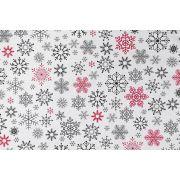 Tkanina bawełniana płatki śniegu