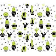 Tkanina bawełniana kaktusy zielone