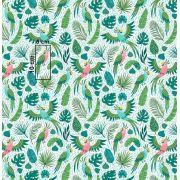 Tkanina bawełniana papugi zielone