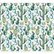 Tkanina bawełniana kaktusy