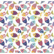 Tkanina bawełniana rybki kolorowe