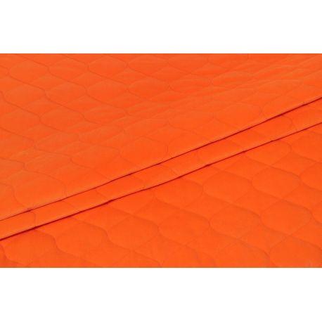 Velvet pikowany pomarańczowy - 1