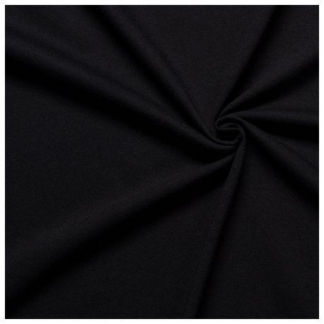 Dzianina jersey czarna
