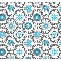 Tkanina bawełniana słonie indyjskie
