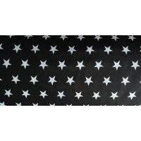 Tkanina bawełniana gwiazdki czarna