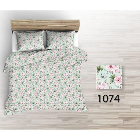 Tkanina bawełniana kwiaty mięta