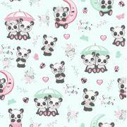 Tkanina bawełniana pandy mięta