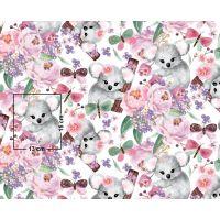 Tkanina bawełniana koala - kwiaty