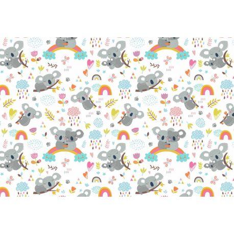 Tkanina bawełniana koala jasny