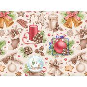 Tkanina bawełniana świąteczna