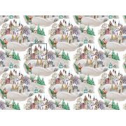 Tkanina bawełniana świąteczna mikołaj