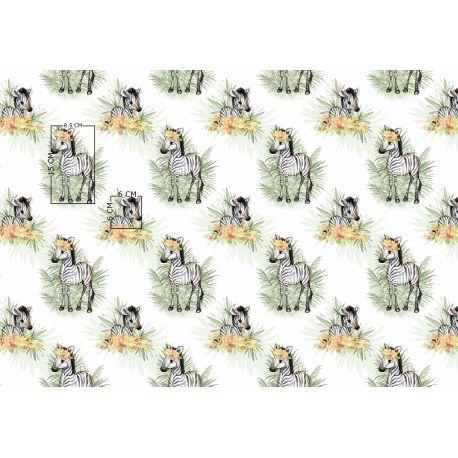 Tkanina bawełniana zebry