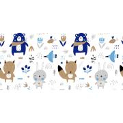 Tkanina bawełniana zwierzęta leśne
