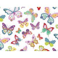 Tkanina bawełniana motyle kolorowe