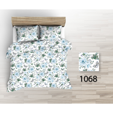 Tkanina bawełniana kwiaty niebieskie