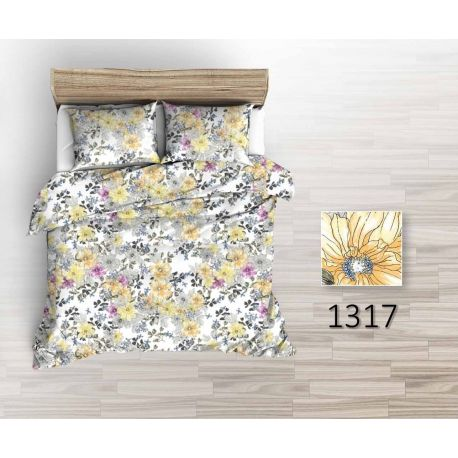 Tkanina bawełniana kwiaty żółte