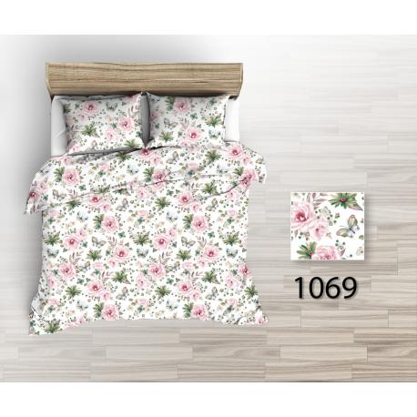 Tkanina bawełniana motyle kwiaty