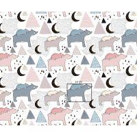 Tkanina bawełniana niedźwiadki