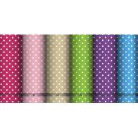 Tkanina bawełniana kropki mix kolorów