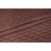 Velvet pikowany brązowy